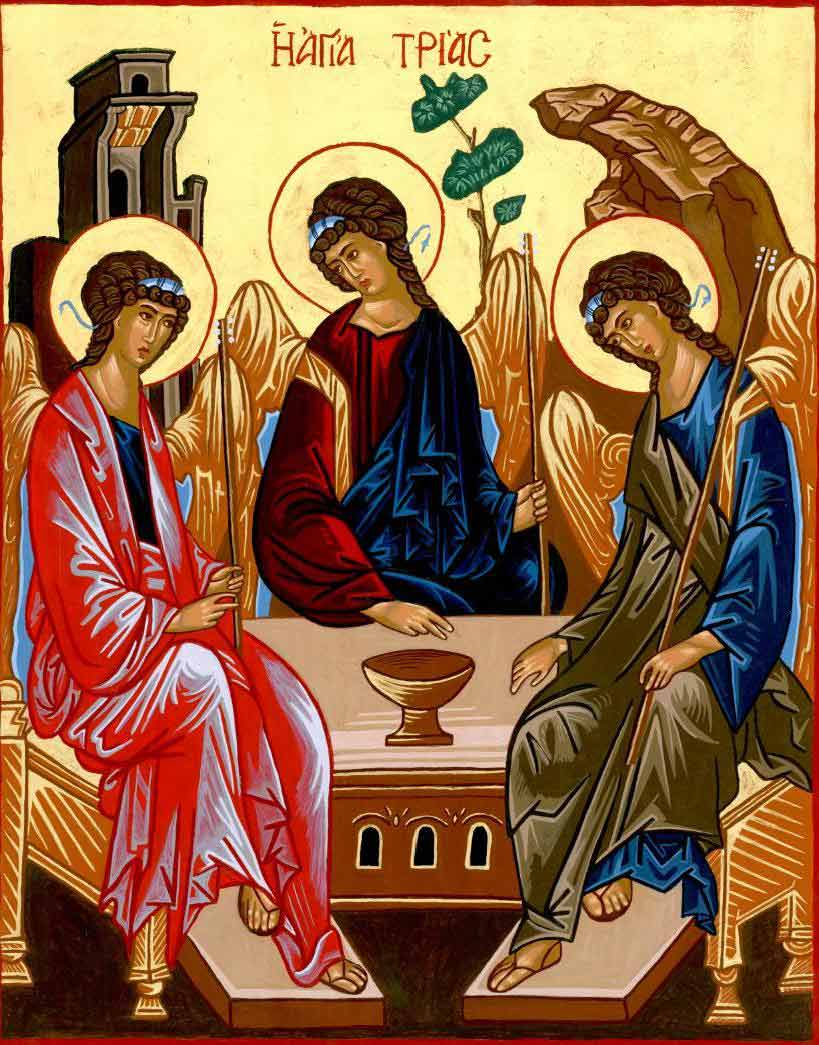 Andrei Rublev's Icon of the Trinity based on the Visitation to Abraham